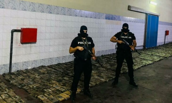 Policia në Mal të Zi konfiskon mbi një ton kokainë