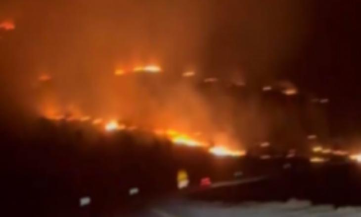 Modelja e njohur publikon videon nga zjarri që kaploi Vlorën, tmerrohet me situatën