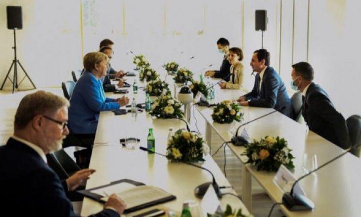Kurti pas takimit me Merkel: Nënvizova nevojën për investim në ekonomi dhe arsim