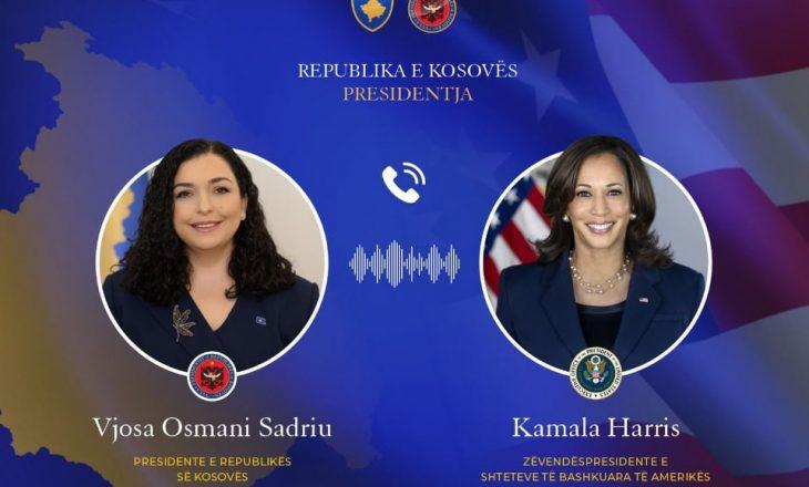 Osmani e Harris flasin në telefon, Presidentja e Kosovës falënderohet për mikpritjen e afganëve