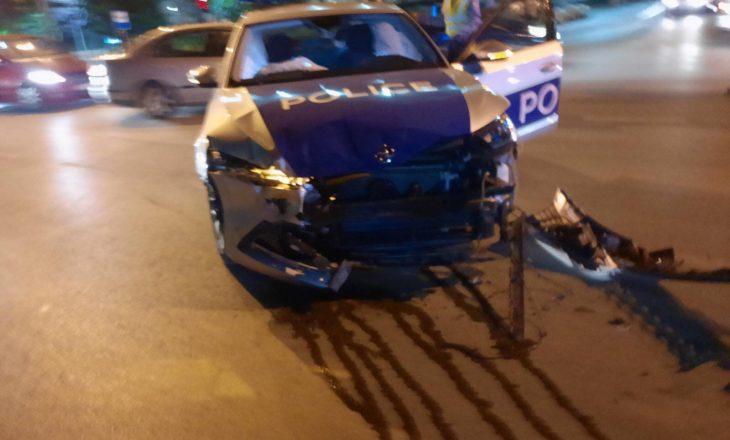 Pesë të lënduar në një aksident në Prishtinë, tre prej tyre policë