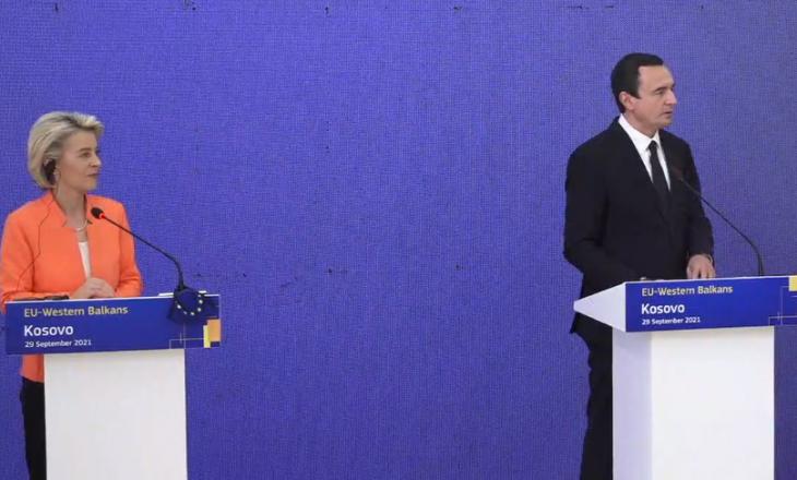 Kurti pas takimit me Von der Leyen: Biseduam për vendimin e vonuar të BE-së për liberalizim të vizave