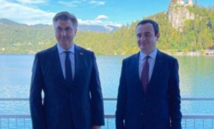 Kurti takon homologun kroat, diskutojnë për ekonomi dhe siguri