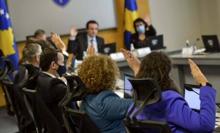 Të gjitha vendimet që miratoi sot Qeveria e Kosovës