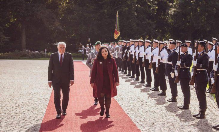 Presidentja Osmani takohet me homologun e saj gjerman