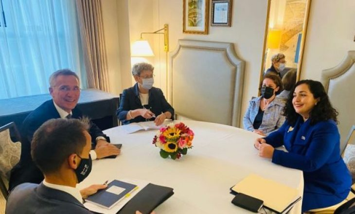 Osmani dhe sekretari i NATO-s flasin për zhvillimet në veri