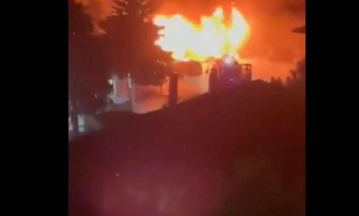 Përfshihet nga zjarri spitali modular në Tetovë, dyshohet se ka viktima