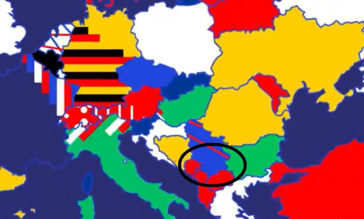 UEFA e paraqet Kosovën të bashkuar me Serbinë në hartë